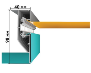 Виды профилей для двухуровневых натяжных потолков с подсветкой