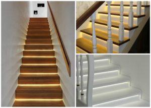 Подсветка лестницы в доме – как сделать своими руками
