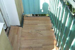 Обустройство пола на открытом балконе или лоджии