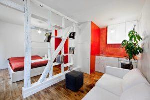 Функциональный дизайн однокомнатной квартиры – борьба за метры