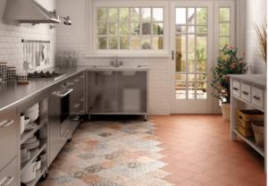 Выбор керамогранита для пола на кухне и варианты интерьера