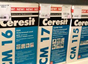 Клей для плитки Ceresit: расход и характеристики