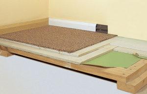 Укладка ГВЛ на деревянные полы