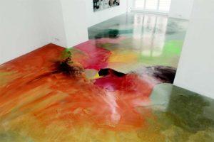 Чем покрасить наливной пол?