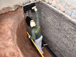 Устройство гидроизоляции фундамента внутри дома