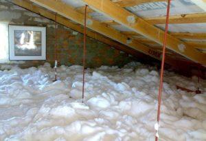 Жидкий пенопласт – применение воздухопроницаемого утеплителя для стен