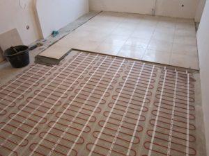 Укладка теплых полов под плитку на кухне