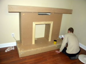 Муляж камина из старой мебели и гипсокартона – делаем сами