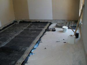 Гидроизоляция полов в квартире перед заливкой стяжки