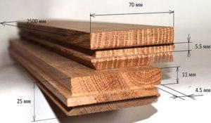 Паркетная доска: толщина, типовые размеры, селекция и цены