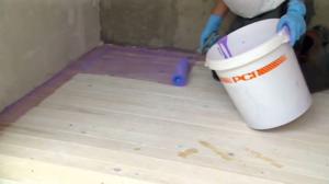 Гидроизоляция деревянных полов в ванной комнате