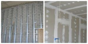 Выравниваем стены гипсокартоном с каркасом и без – технология «сухой штукатурки»