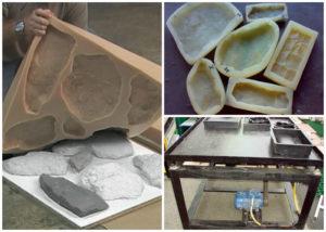 Искусственный камень своими руками – технология изготовления декоративных украшений