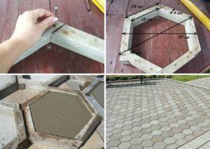 Формы для тротуарной плитки – делаем своими руками