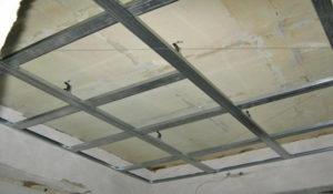 Каркас для гипсокартона на потолок – учимся делать самостоятельно
