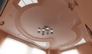Фигурный и криволинейный подвесной потолок из гипсокартона