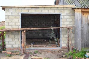 Гараж из шлакоблока – как построить надежное укрытие для автомобиля своими руками