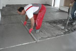 Как правильно выровнять бетонный пол?