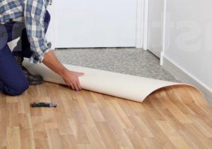 Как постелить ковролин на линолеум?