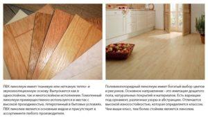 Правила подбора линолеума для разных помещений в квартире