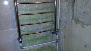 Пошаговая установка полотенцесушителя с нижним подключением