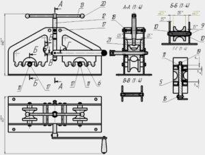Ручной трубогиб для профильной трубы – как сделать по чертежам своими руками?