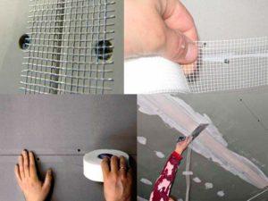 Армирующая лента для гипсокартона — пошаговая инструкция укладки