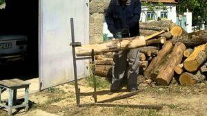 Козлы для распилки дров своими руками – приспособление для пилки бензопилой