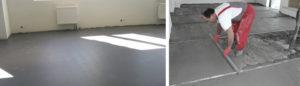 Стоимость бетонной стяжки пола за м<sup>2</sup>» width=»300″ height=»86″ class=»alignleft size-medium» /></p><p>Закрыть</p><p>Как для жилого, так и для промышленного строительства неотъемлемым этапом ремонта являетсябетонная стяжка пола, ценаза м2включает в себя стоимость материалов и проведения работ. Популярность этого варианта обустройства основания пола легко объяснить.</p><p> Во-первых, оно совмещается с какими угодно финишными покрытиями. Во-вторых, если, его соответствующим образом обработать то оно может даже быть использовано самостоятельно. Так, на складах и некоторых промышленных помещениях бетонный пол – это норма.</p></p><p>К преимуществам данного решения можно причислить высокую прочность пола, а также высокую устойчивость его к воздействию разрушающих факторов.</p><p> У пола, сделанного из бетона, достаточно долгий срок эксплуатации, так что он – это самое частое решение при строительстве и ремонте. Правда, речь о правильно сделанной стяжке.</p><p> В случае нарушения техники или несоответствия состава заявленным требованиям о практических свойствах его говорить не приходится.</p><h3><span class=