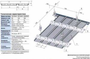 Виды алюминиевых реечных потолков и стоимость комплекта