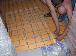 Как сделать теплый пол в бане своими руками под плитку?