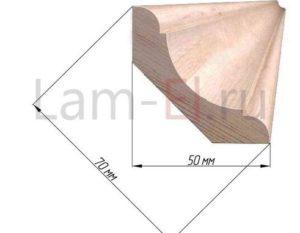 Размеры и стоимость деревянных потолочных плинтусов