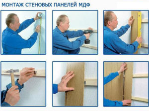 МДФ панели – правила монтажа на обрешетку и клей