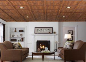 Дизайн и фото ламината на потолке в интерьере