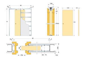 Монтаж межкомнатной двери-купе – установка на упорный брус и в пенал