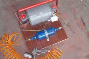 Краскопульт своими руками: варианты изготовления, компрессор из пылесоса