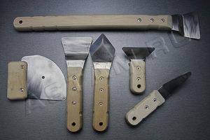 Виды шпателей и лопаток для монтажа натяжных потолков