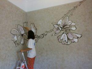 Рисунки на стенах в квартире – как подобрать свою технику?