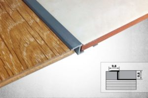 Порожек между плиткой и ламинатом – как соединить несовместимые материалы?