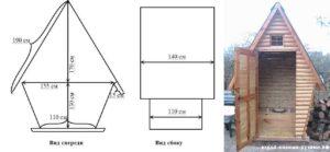 Туалет для дачи – как сделать деревянный домик для размышлений своими руками