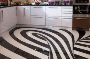 Как сделать наливной пол на кухне своими руками?
