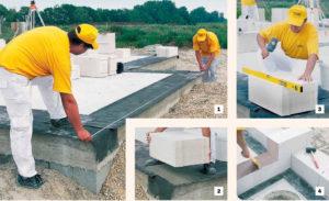 Строительство дома из пеноблоков — выбор материала и технология возведения