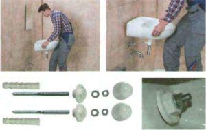 Крепление раковины к стене в ванной – технологии монтажа своими руками