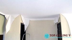 Монтаж и стоимость натяжных тканевых потолков Черутти
