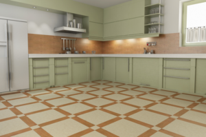 Выбор керамической плитки для пола на кухне