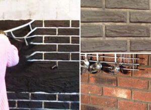 Имитация кирпичной кладки для стен – как сделать своими силами?