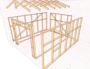 Каркасный гараж – строим своими руками