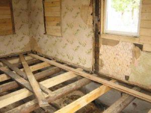 Самостоятельная замена полов в деревянном доме