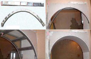 Арки из гипсокартона – замена своими руками стандартных прямоугольных дверей оригинальной конструкцией