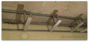 Монтаж короба из гипсокартона на потолке с подсветкой